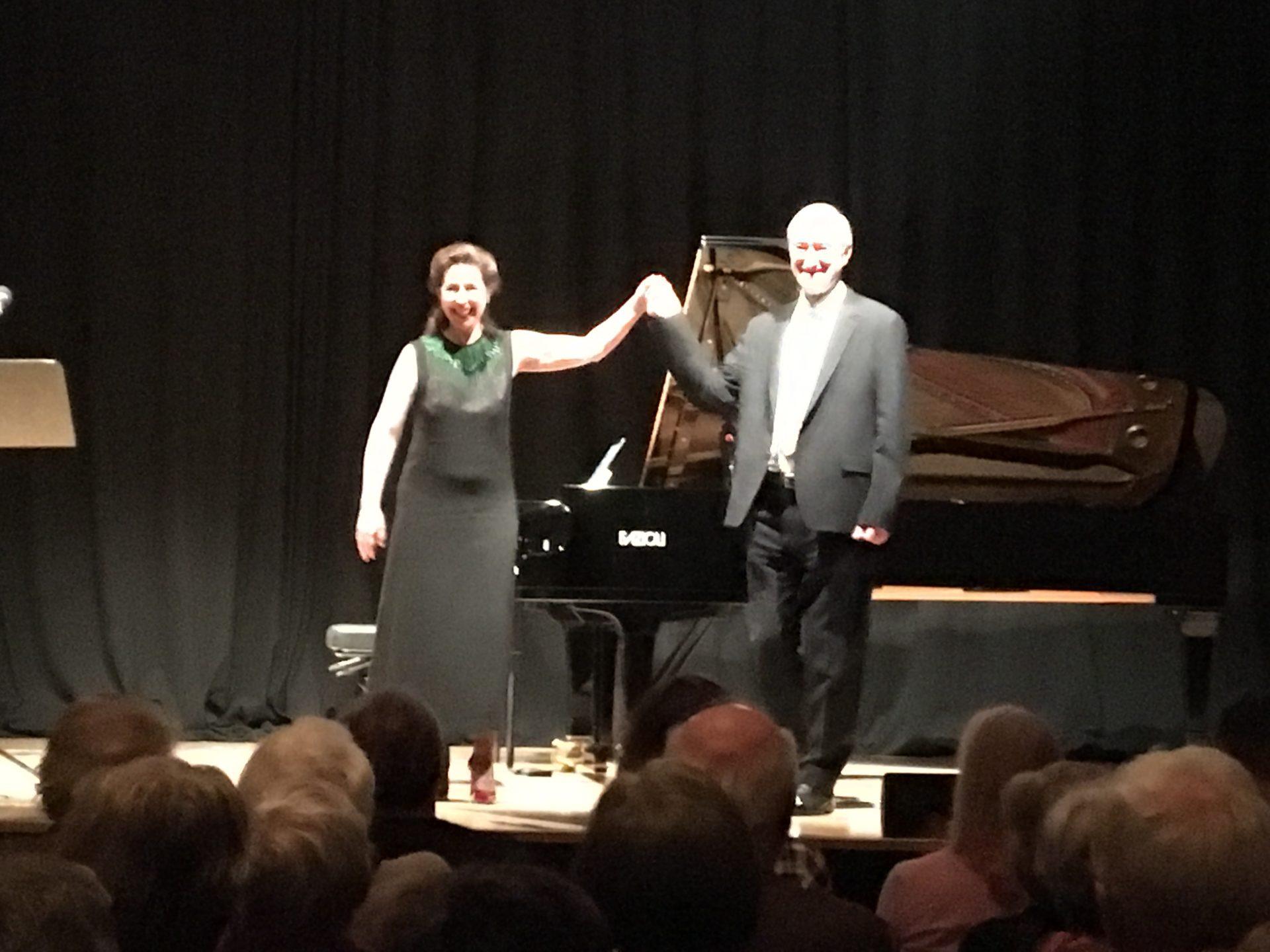 Julian Barnes and Angela Hewitt in Vienna