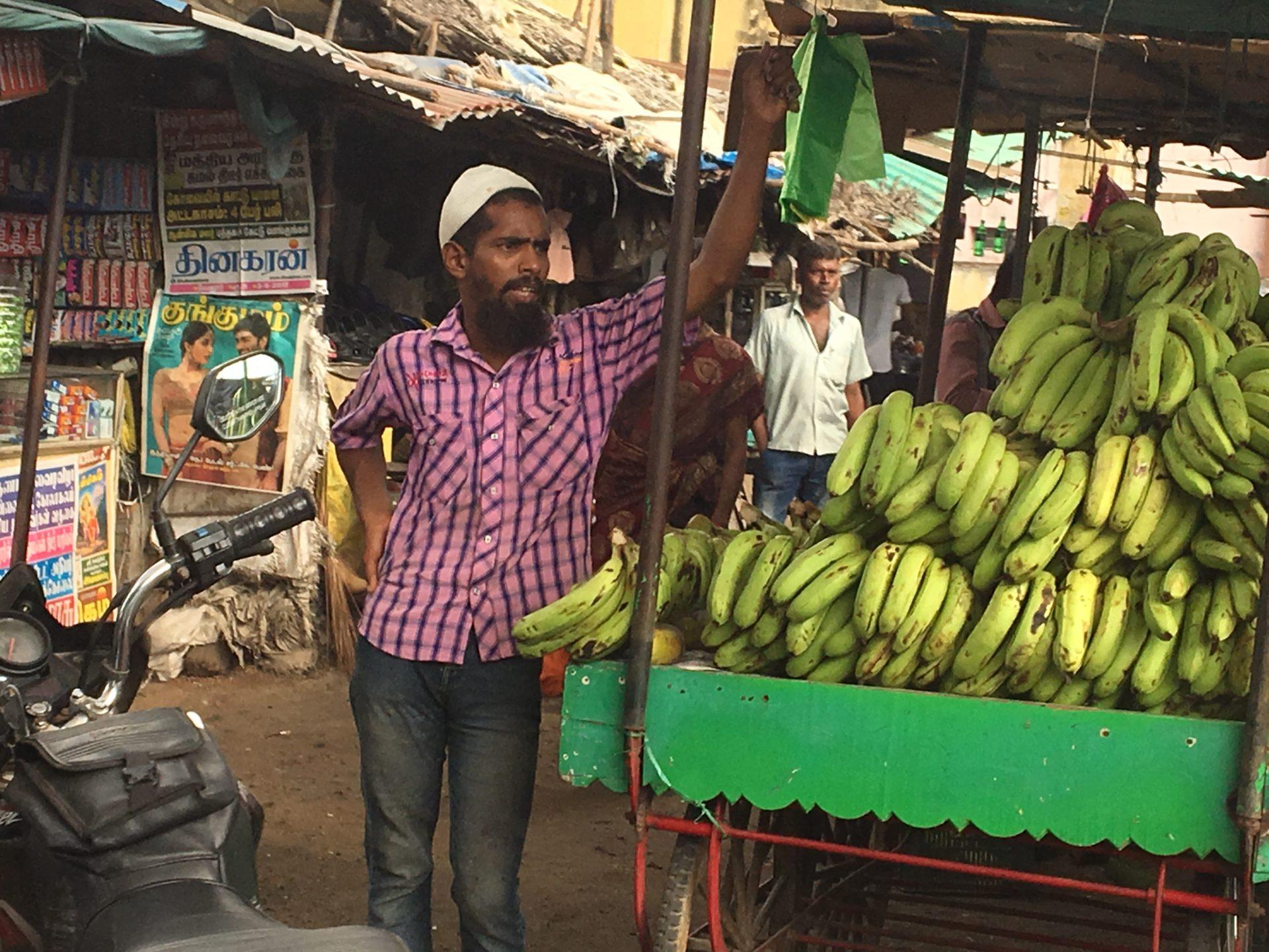 Banana salesman, India