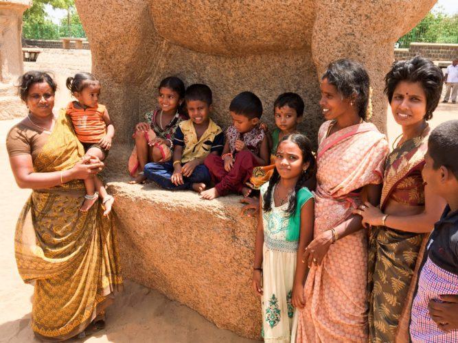 Mahabaliuram - happy to pose