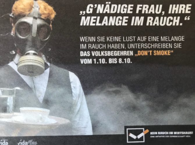 Smoking in Vienna cafes