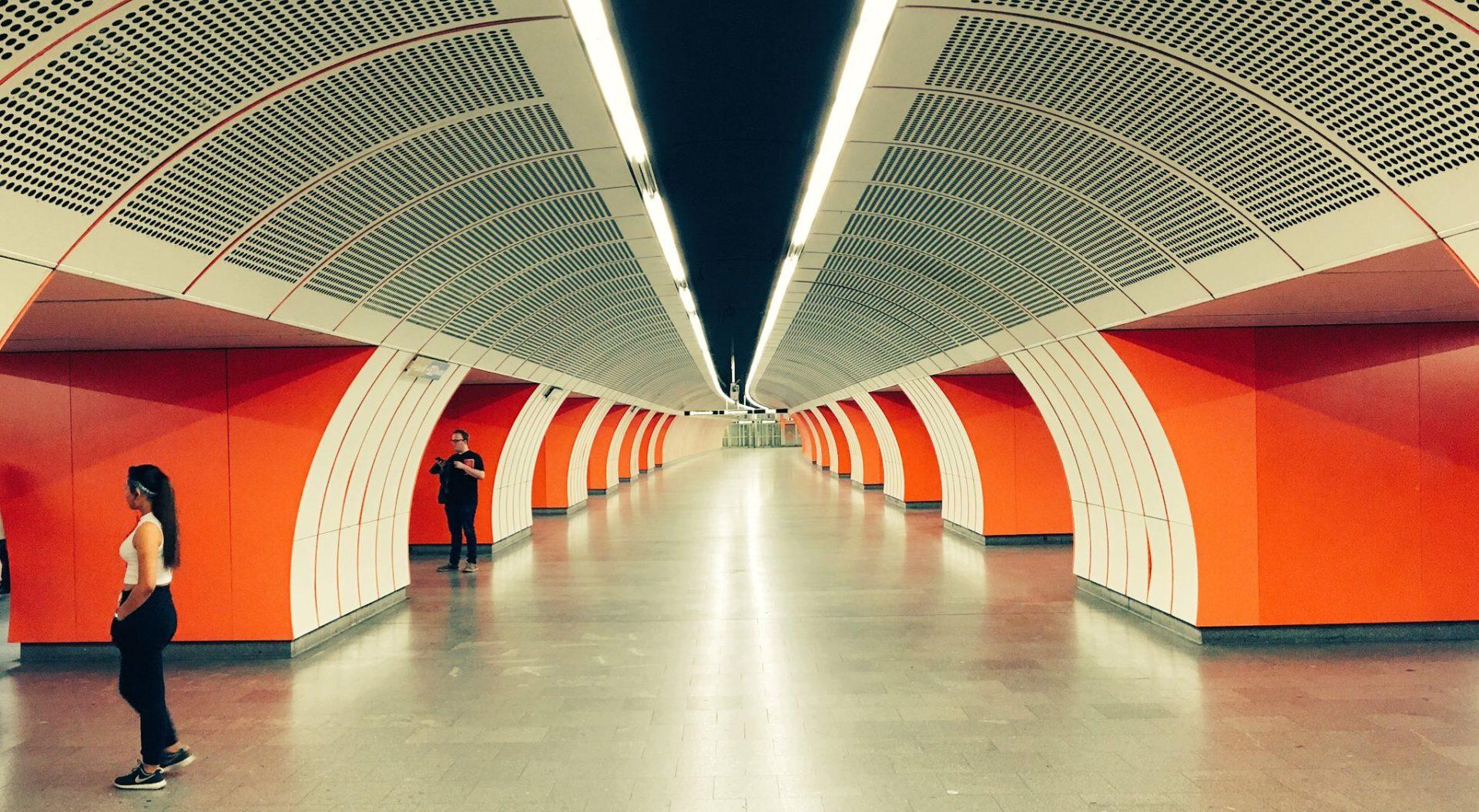 U-Bahn station in Vienna